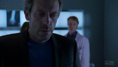 Gregory House, looking dark and depressed in between snarky quips