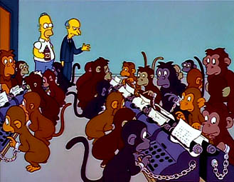 """It was the best of times, it was the *blurst* of times? Stupid monkey!\"""